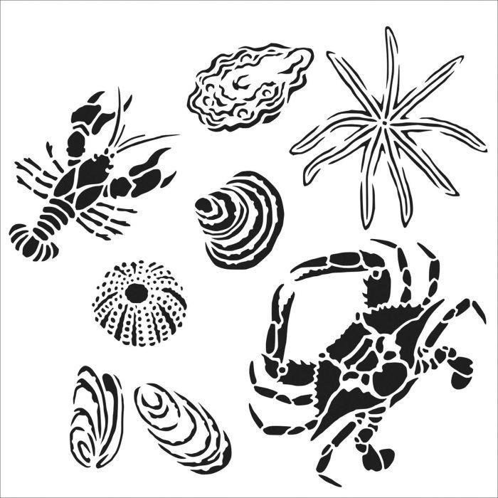 POCHOIR gulf coast creatures