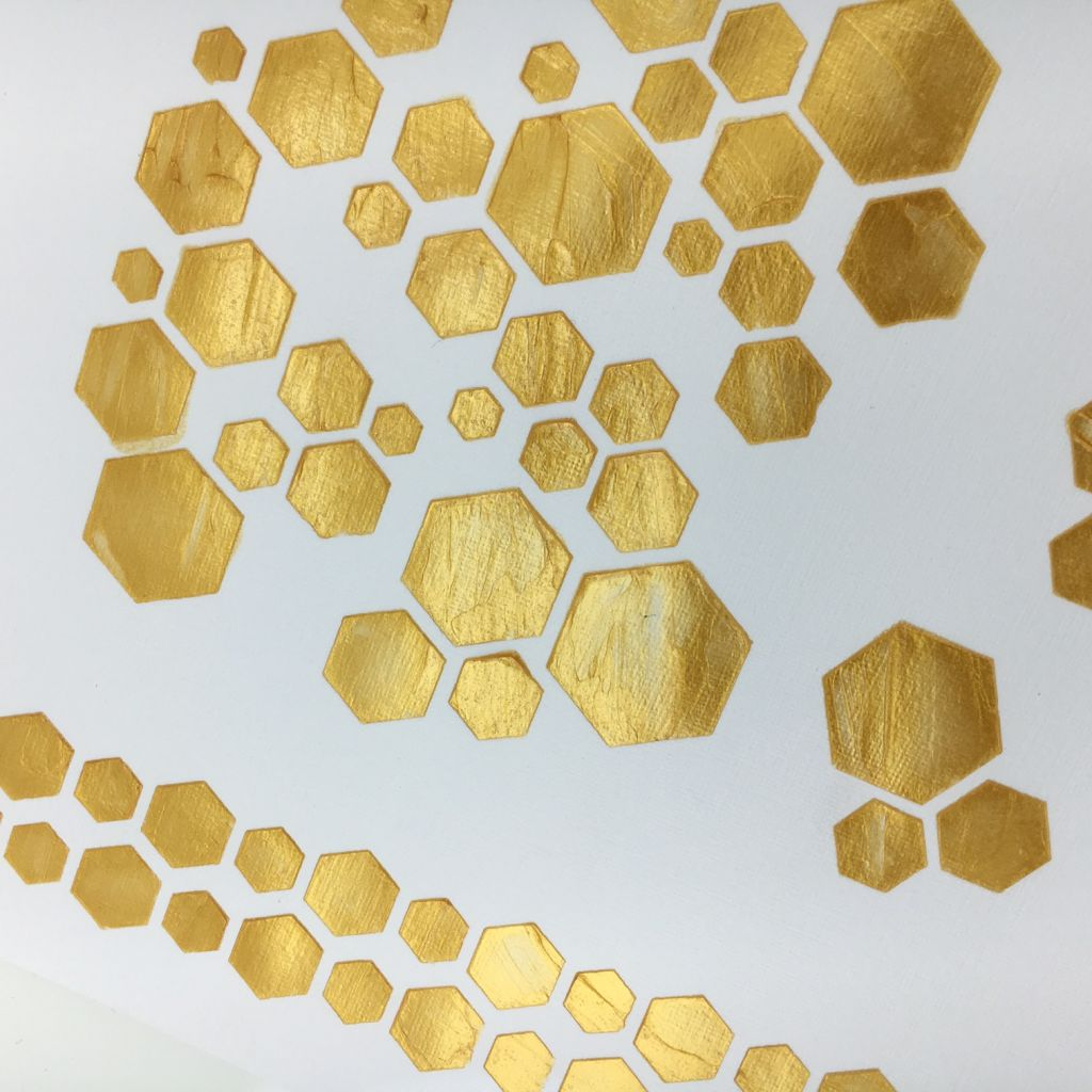 POCHOIR HEXAGONES 1