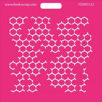 POCHOIR HEXAGONES 3
