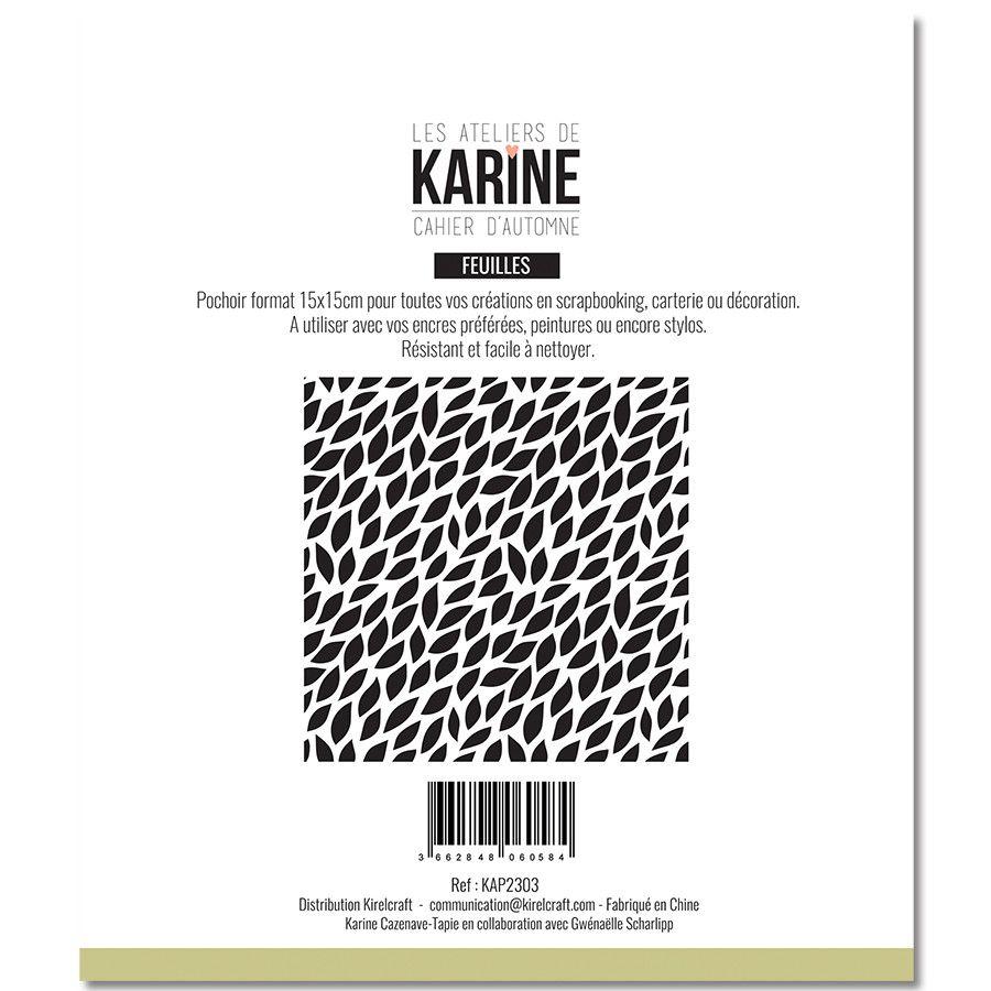 Pochoir Mini feuilles - Les Ateliers de Karine