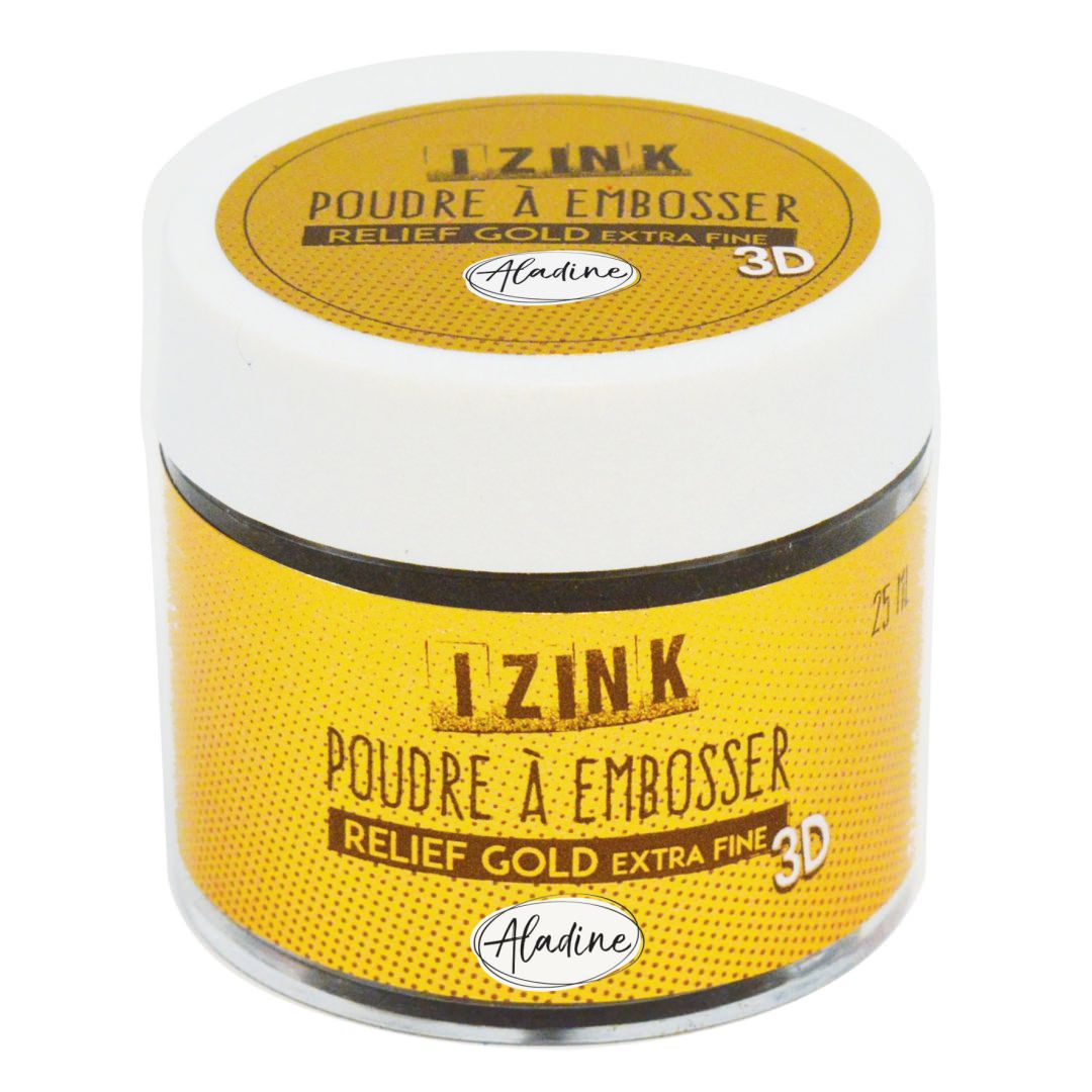 POUDRE A EMBOSSER IZINK - relief gold extra fine