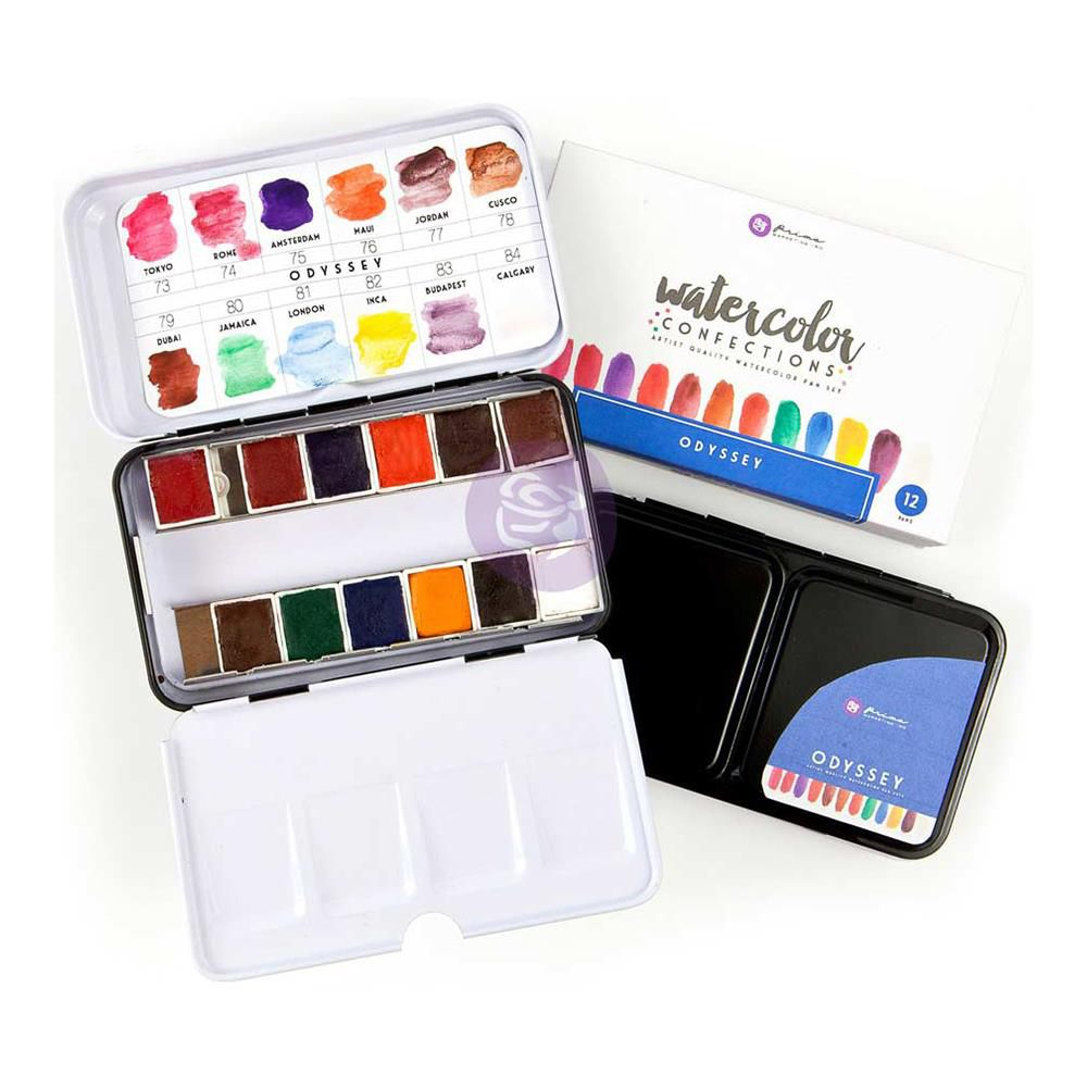 Prima Watercolor Confections Watercolor Pans 12/Pkg Odyssey