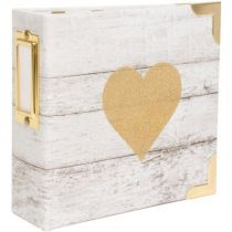"Project Life Ring Album 4""X4\"" Heidi Swapp - Glitter Heart"