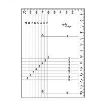 Règle du cadre transparent avec bord en acier A6