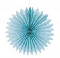 Rosette en papier 40 cm - Bleu Lagon