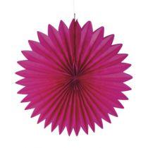 Rosette en papier 40 cm - Fuchsia