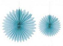 Rosettes en papier - Bleu Lagon