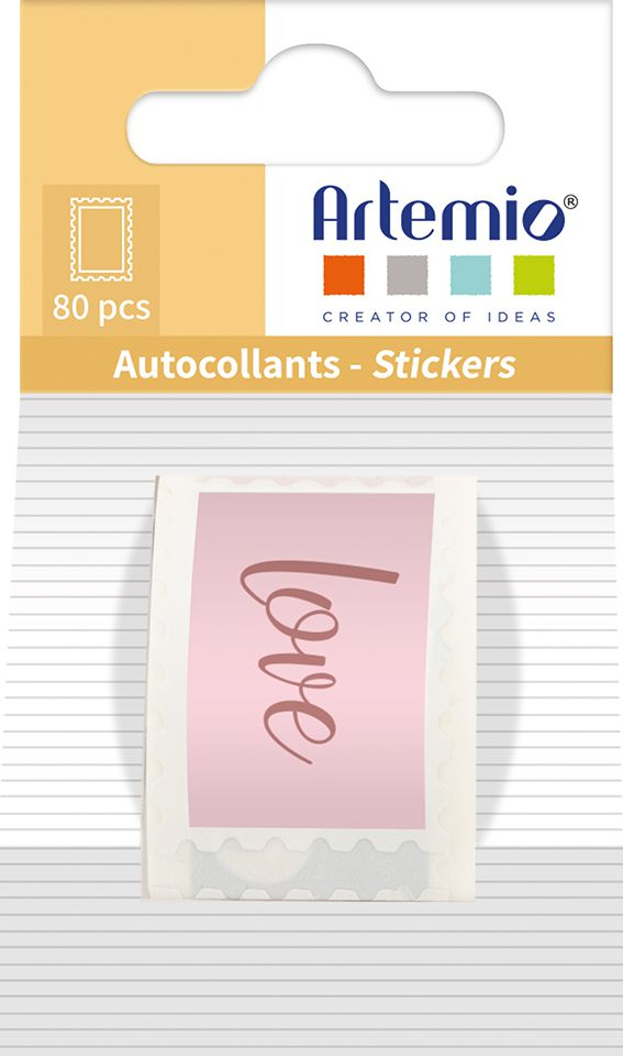 ROULEAU 80 TIMBRES AUTOCOLLANTS SLOW LIFE - 25X35 MM