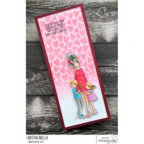 RUBBER STAMP CURVY GIRL MOM