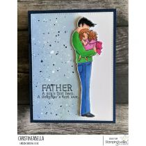 RUBBER STAMP DADDY\'S LITTLE GIRL