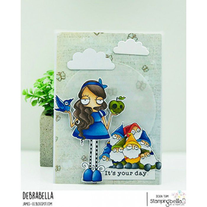 RUBBER STAMP ODDBALL SNOW WHITE AND THE SEVEN DWARVES