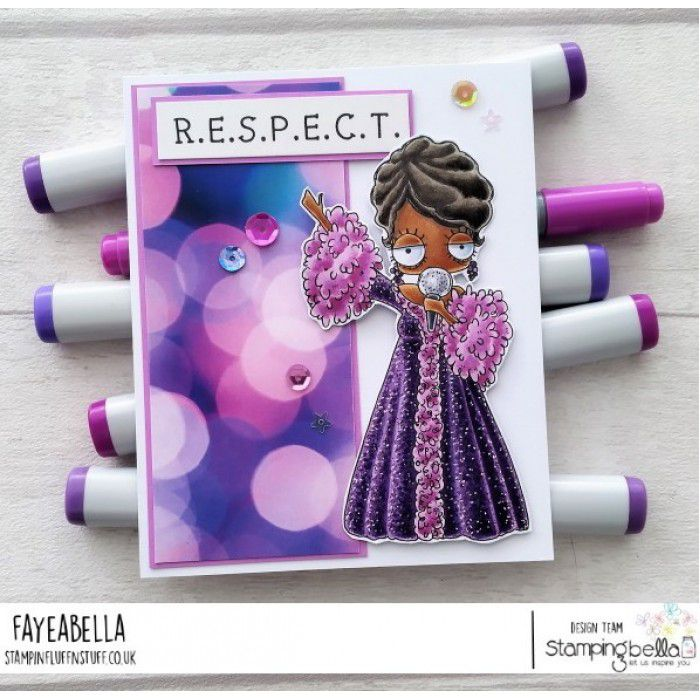 RUBBER STAMP OODBALL ARETHA