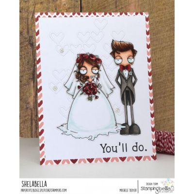 RUBBER STAMP OODBALL BRIDE AND COUPLE