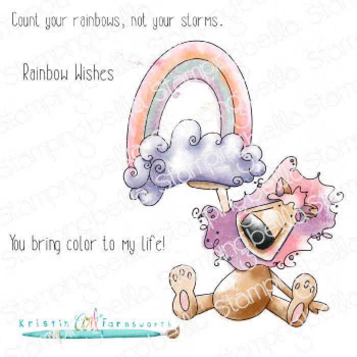 RUBBER STAMP RAINBOW DANDY