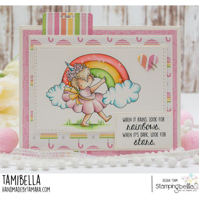 RUBBER STAMP RAINBOW TINY TOWNIE