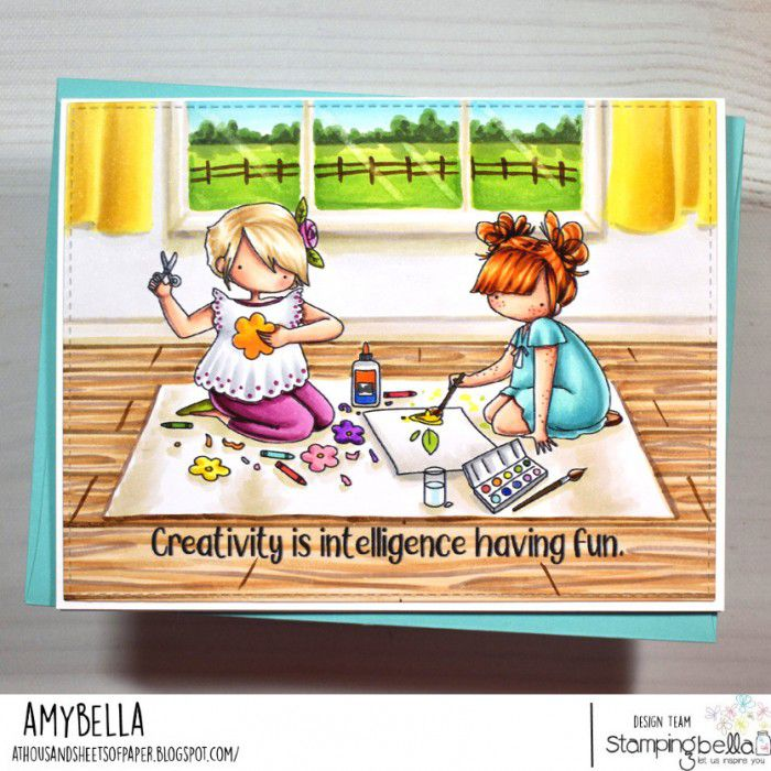 RUBBER STAMP TINY TOWNIE CRAFTY FRIENDS