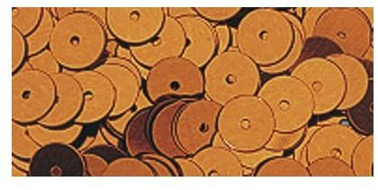 SEQUINS LISSES 6 MM OCRE