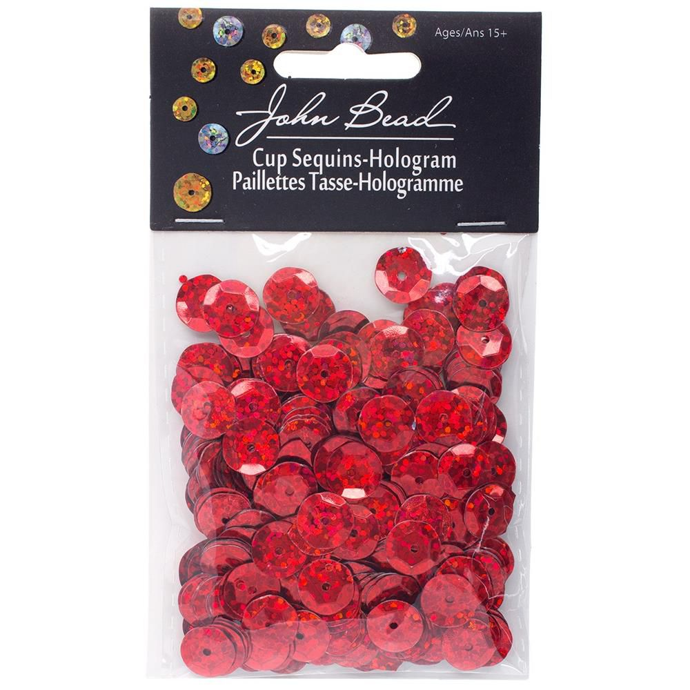 SEQUINS PAILLETTES RONDS 10 MM RED