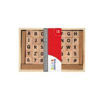 Set 20 tampons bois alphabet
