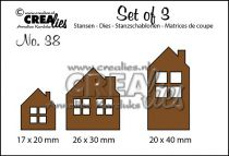 Set of 3 no. 38 Houses