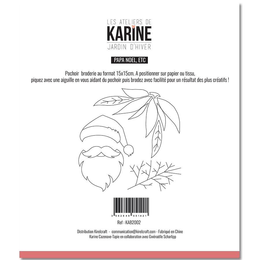 Sewing stencil Jardin d\'Hiver Papa NOEL, etc -Les Ateliers de Karine