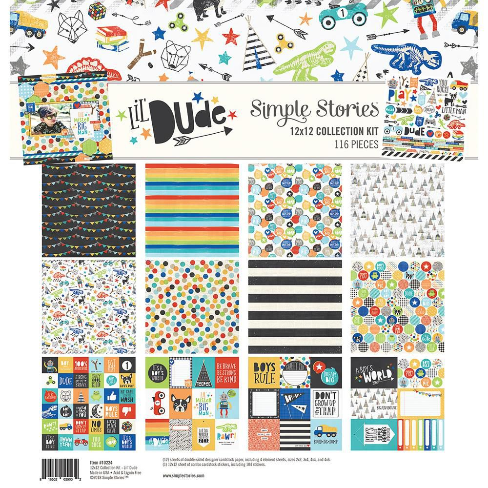 """Simple Stories Collection Kit 12\""""X12\"""" Lil\' Dude"""