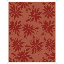 Sizzix Texture Fades A2 Embossing Folder Poinsettias