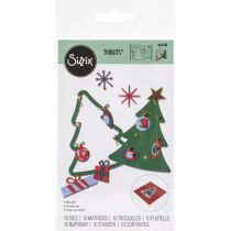 Sizzix Thinlits Dies 10/Pkg Retro Tree