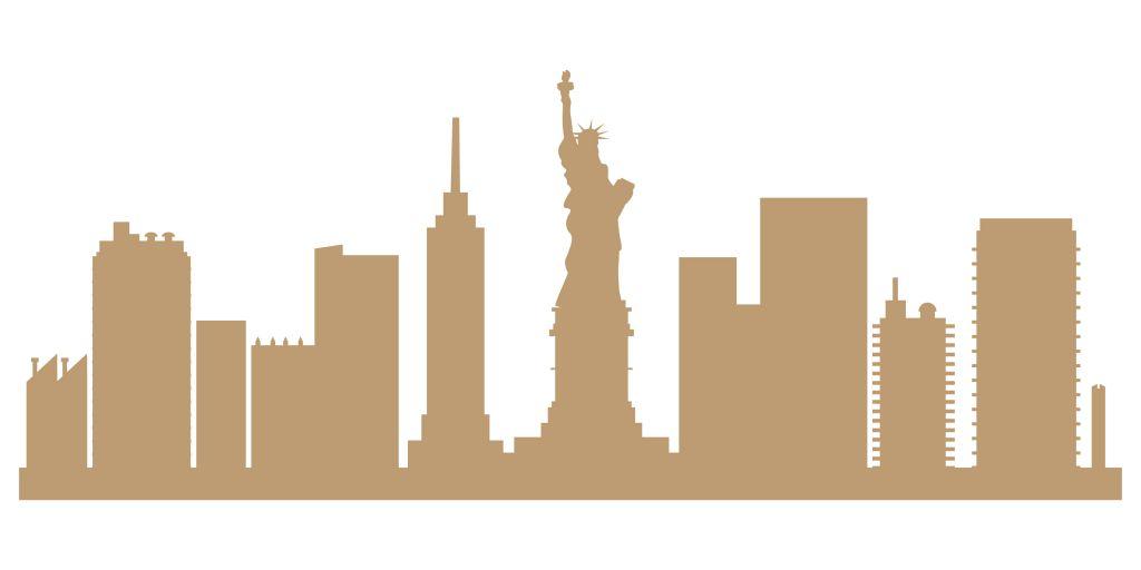SKYLINE NEW YORK GEANT MDF 3 MM