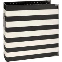 "Sn@p! Designer Binder 6""X8\"" Black Stripe"