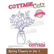 """Spring Flowers In Jar 1 - 2.3\""""X3\"""""""