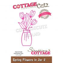 """Spring Flowers In Jar 2 - 2.3\""""X3\"""""""