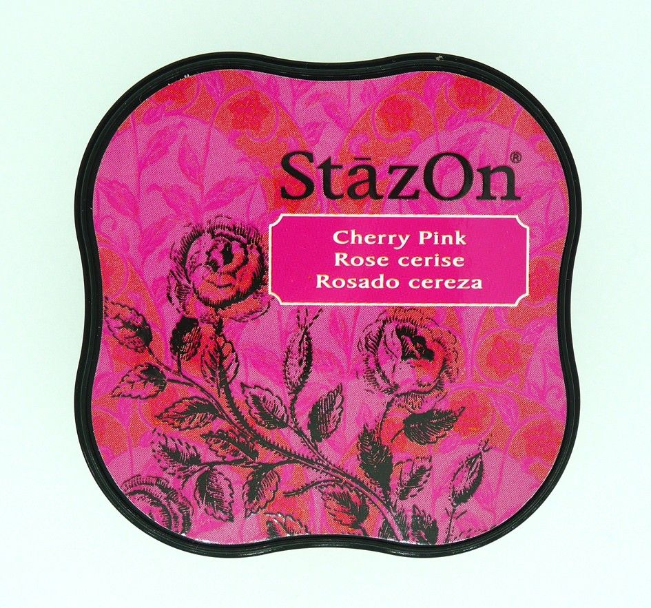 STAZON MIDI INK PAD CHERRY PINK