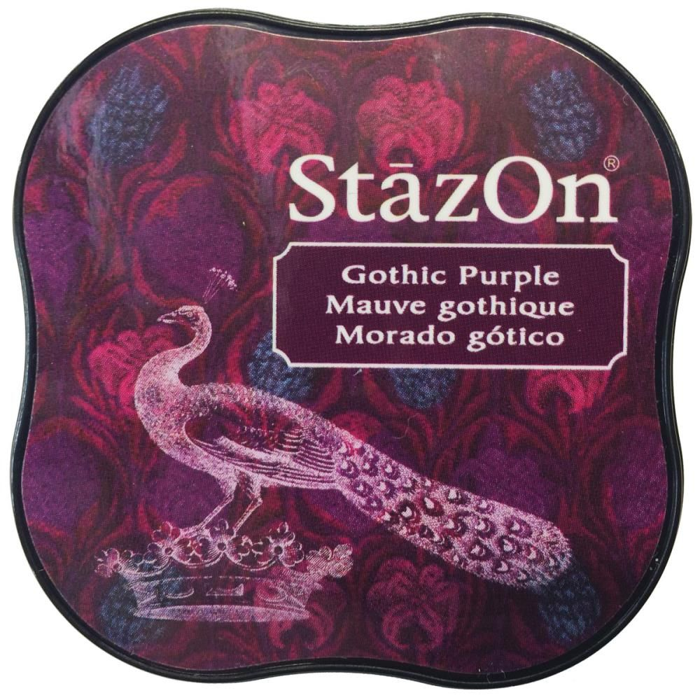 STAZON MIDI INK PAD GOTHIC PURPLE