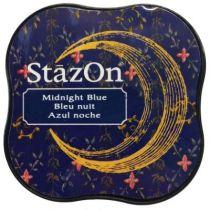 STAZON MIDI INK PAD MIDNIGHT BLUE