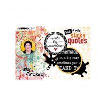 STICKERS BLACK & WHITE STICKY NOTES BY MARLENE