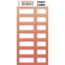 STICKERS ETIQUETTES - CORAIL INTENSE