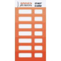 STICKERS ETIQUETTES - ORANGE