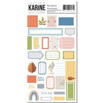 Stickers étiquettes Cahier d\'Automne de Karine Cazenave-Tapie