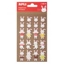 Stickers feutrine - Lapins