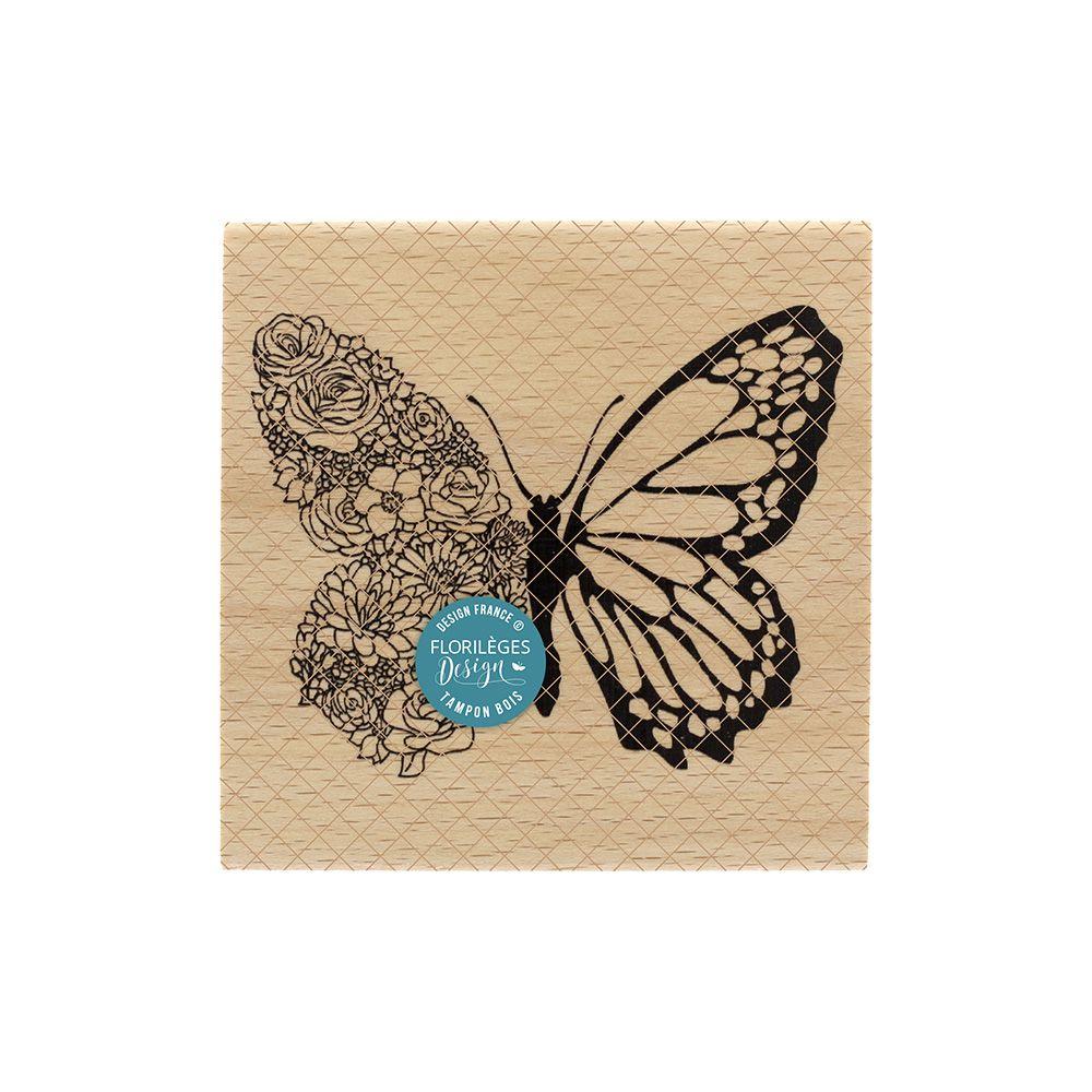 TAMPON BOIS - Papillon Floral