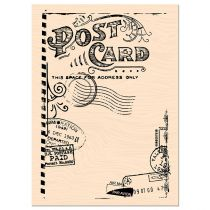 TAMPON BOIS CARNET DE ROUTE - Post Card