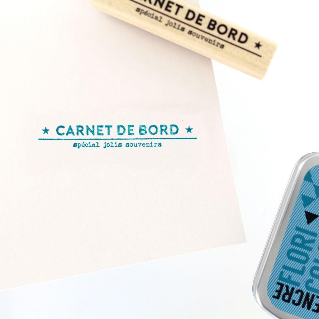 Tampon bois CARNET DE SOUVENIRS
