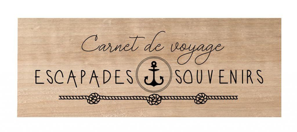 Tampon bois Carnet de voyage