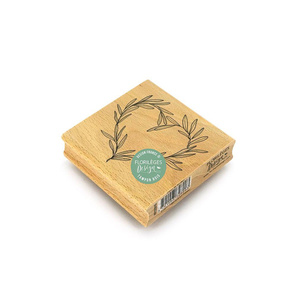 Tampon bois COEUR DE FEUILLES
