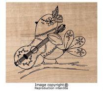 Tampon Bois Folk bird
