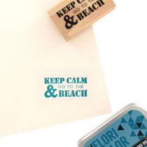 Tampon bois GO TO THE BEACH