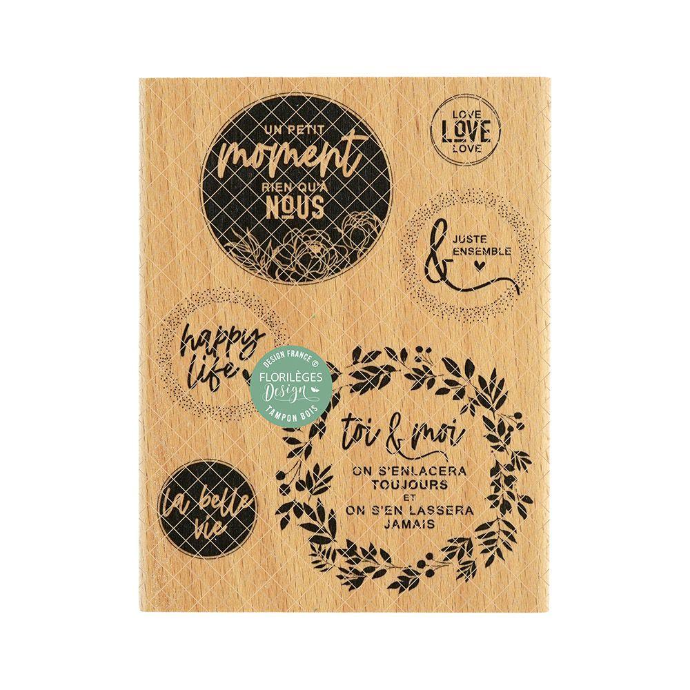 Tampon bois HAPPY LIFE