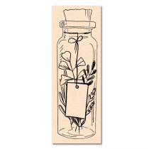 Tampon Bois Jolie bouteille- Les Ateliers de Karine