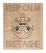 Tampon bois Keep calm Bretagne